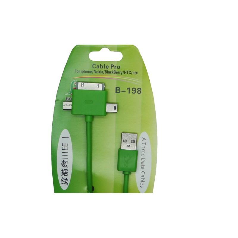Кабель-переходник BOSEN B-198, для iPhone, Samsung и др.