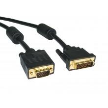 Адаптер (переходник) DVI to VGA, C-NET, кабель 1,8 m