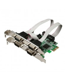 Контроллер PCI-Express 1x to 4xCOM (RS-232) controller