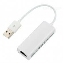 Адаптер (переходник) USB to LAN 10/100 Mbit, белый