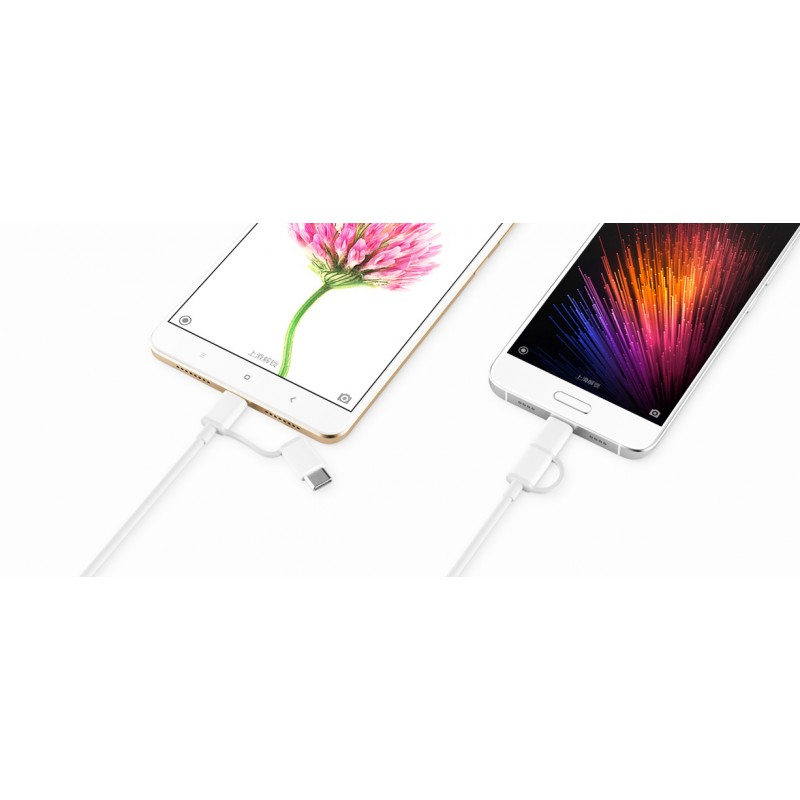 Кабель Xiaomi ZMI cable, USB to micro USB + Type-C