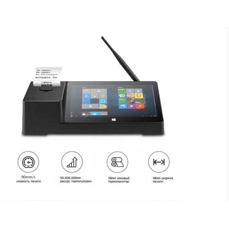 "Pipo miniPC X3, Mini PC с 8.9""дисплеем и 58мм принтером чеков"
