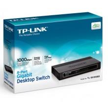 Настольный коммутатор Tp-link TL-SG1008D, 8-port Gigabit switch