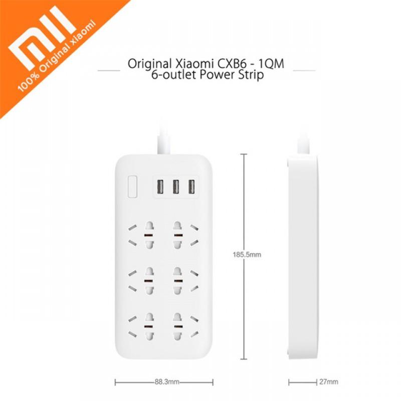 Xiaomi Mi Power Strip basic 6, удлинитель на 6 розеток