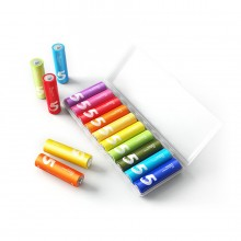 Батарейки Xiaomi Mi Rainbow Zi5 AA Batteries, 10 шт, разноцветные