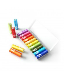 Батарейки Xiaomi Mi Rainbow Zi5 AA Batteries, 10 шт, разноцветные