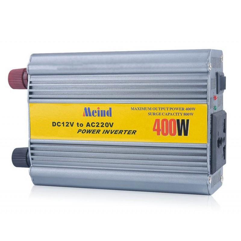 Инвертор автомобильный Meind 400W, DC 12V to AC 220V