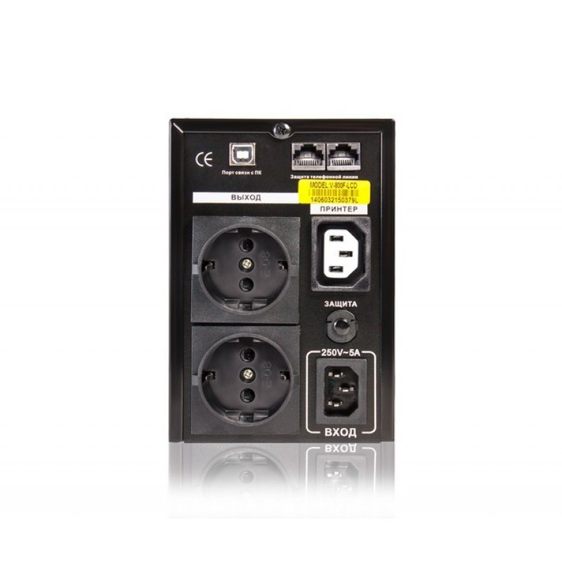 UPS SVC V-800-F-LCD, Smart, USB, 800VA, 480Вт, AVR стабилизатор