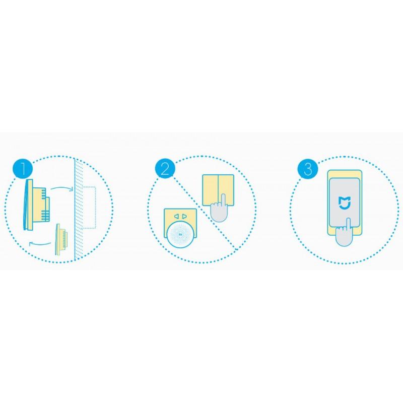 Xiaomi Aqara Smart Light Switch single, беспроводной настенный выключатель света, одинарный, ZigBee