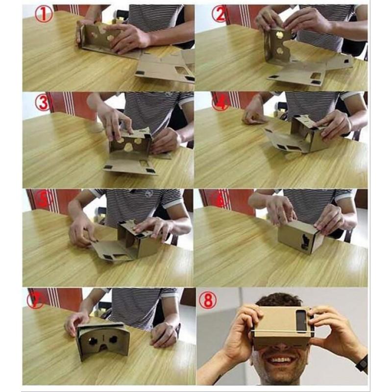 Google Cardboard VR Glasses, картонные 3D VR-очки (аналог)