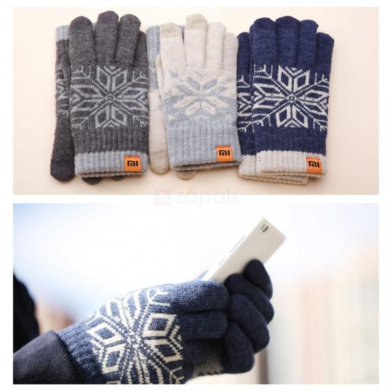 Xiaomi Mi Gloves, перчатки для сенсорных экранов, серо-бежевые