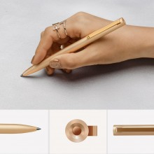 Xiaomi Mi Gel Pen Metal, Gold - гелевая ручка в золотистом корпусе, черная паста