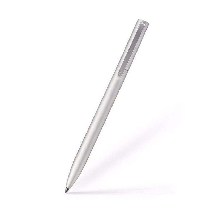 Xiaomi Mi Gel Pen Metal, Silver - гелевая ручка в серебристом корпусе, черная паста